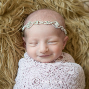 bella's newborn photo session